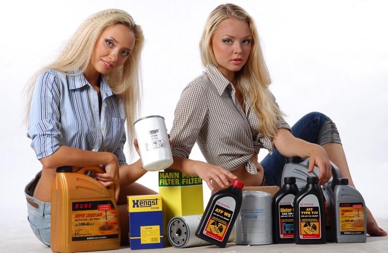 фото девушек с различными видами масел