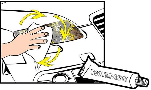 полировка фар автомобиля с помощью зубной пасты