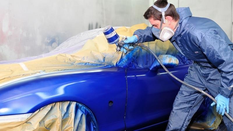 Правильное положение краскопульта для покраски авто