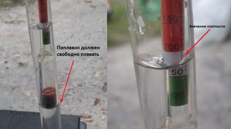 Как проверить заряд и плотность аккумулятора ареометром