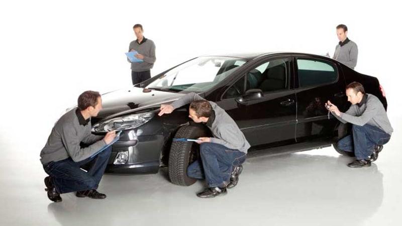 проведение оценки автомобиля экспертами страховой компании