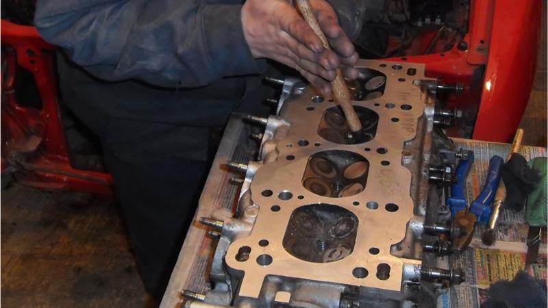 Притирка клапанов после замера компрессии двигателя