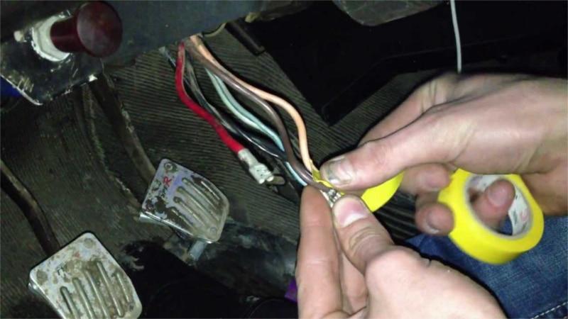 заводим авто соединением проводов