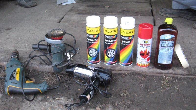 покраска дисков своими руками: инструменты и материалы