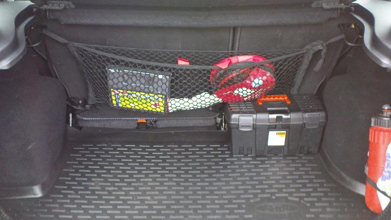 сетка в багажник автомобиля своими руками