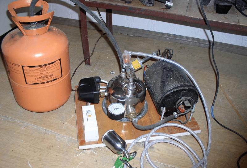 Компрессор воздушный из холодильника какое давление создаст