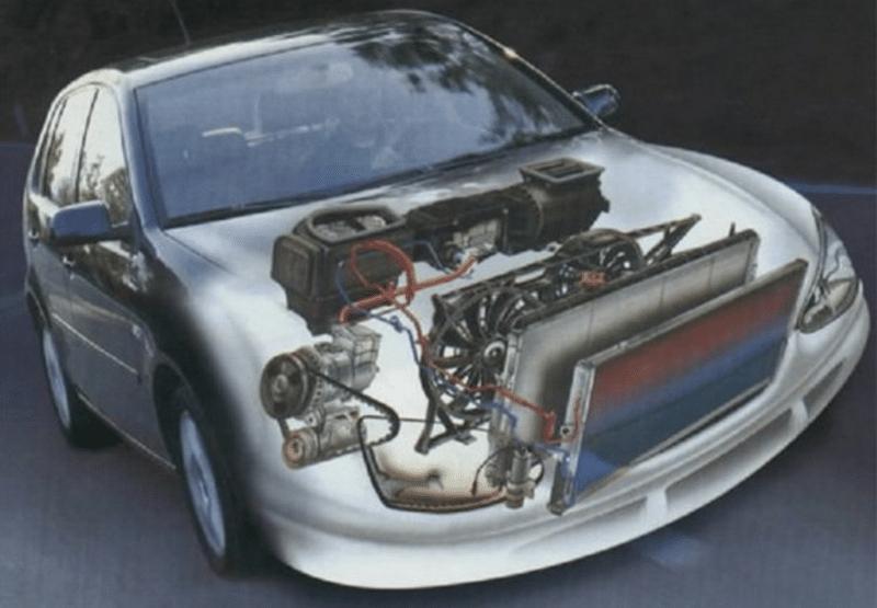 в чес заключается принцип работы системы охлаждения двигателя