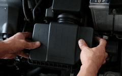 как делается замена воздушного фильтра