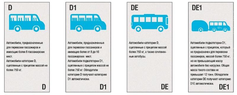какими бывают категории водительских прав в РФ