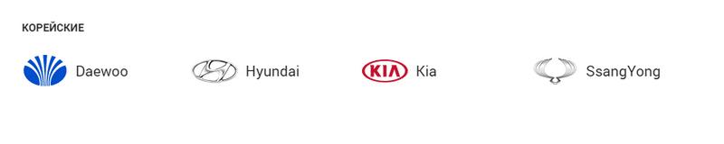 какие бывают изображения корейских маркок автомобилей со значками и названиями