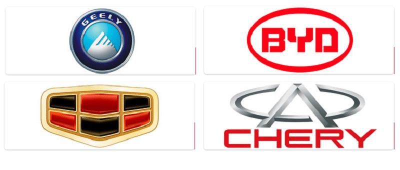как выглядит список марок китайских автомобилей
