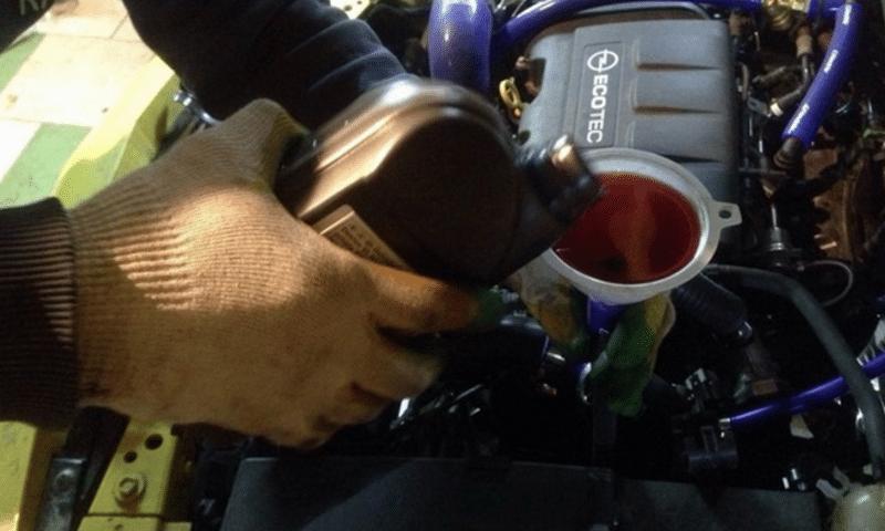 как делается замена масла в коробке передач