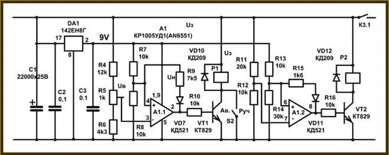 как выглядит схема самодельного зарядного устройства для автомобильного аккумулятора