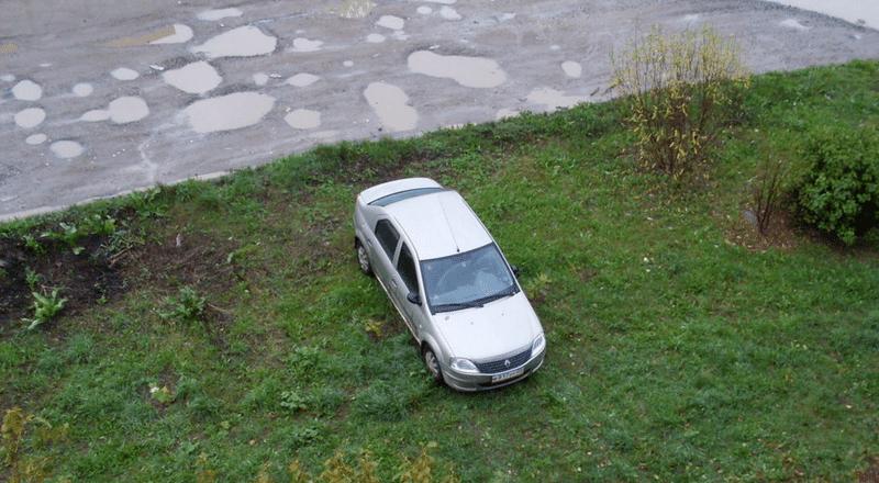 какой бывает штраф на парковку на газоне
