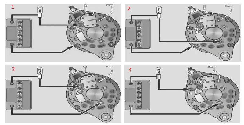как делается проверка диодного моста генератора