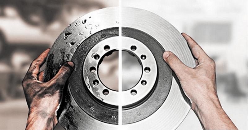 как проводится проточка тормозных дисков без снятия своими руками