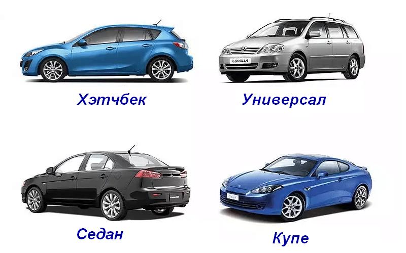 какие популярные типы кузова автомобилей