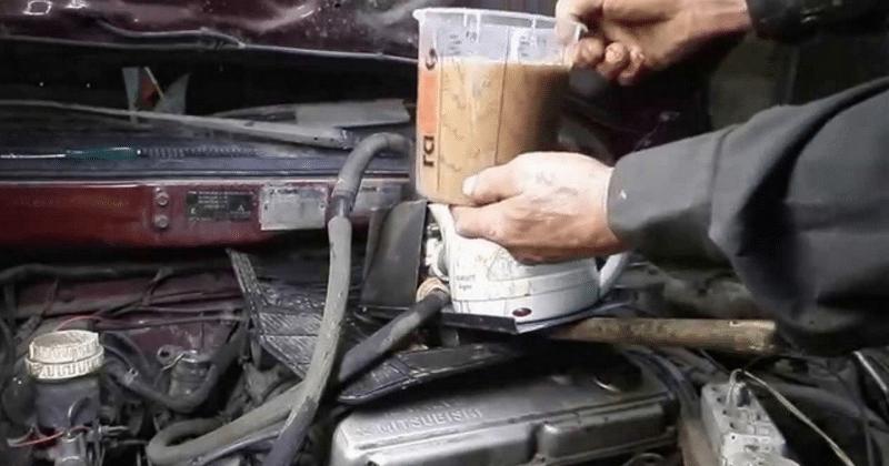 каким образом промыть радиатор печки не снимая