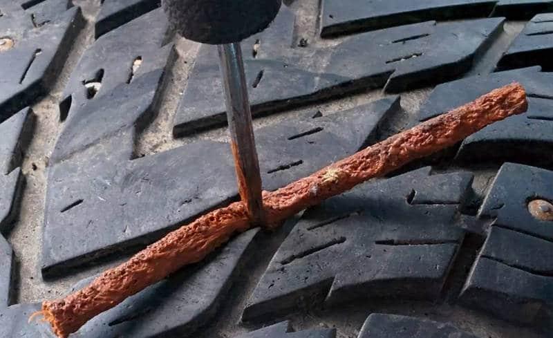 как работает комплект для ремонта бескамерных шин