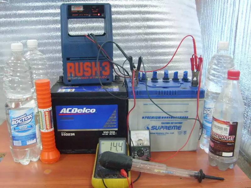 в чем заключается приготовление электролита для аккумуляторов