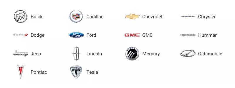 наиболее полный список марок американских автомобилей