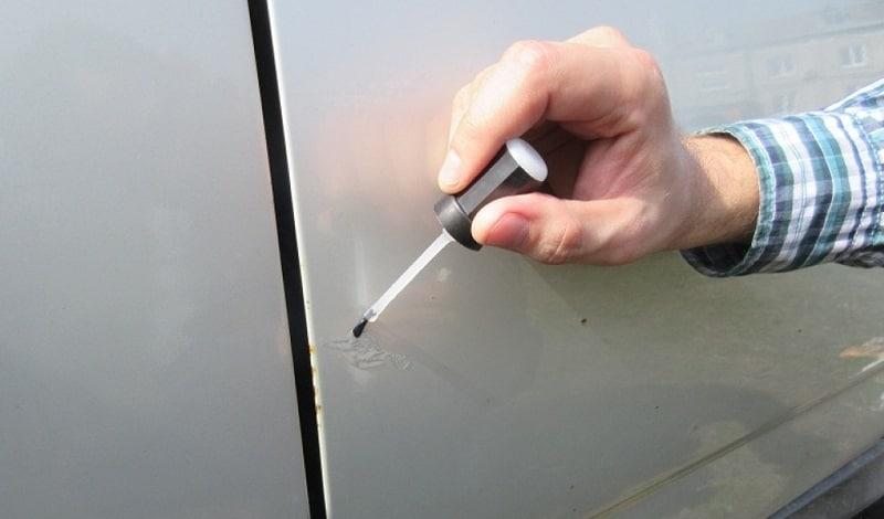Устранение сколов на автомобиле своими руками