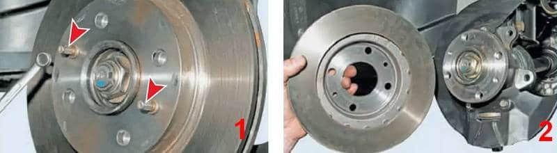 сколько стоит снять прикипевший тормозной диск