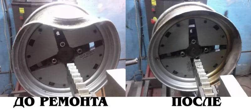 как осуществляется реставрация дисков автомобиля