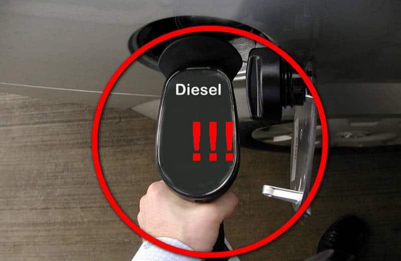 как поведет себя машина, если вместо дизеля залили бензин