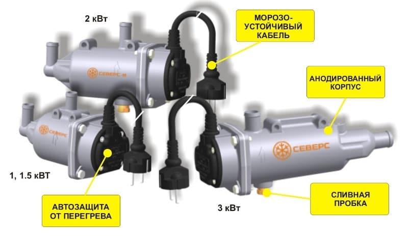 установка подогревателя двигателя 220В