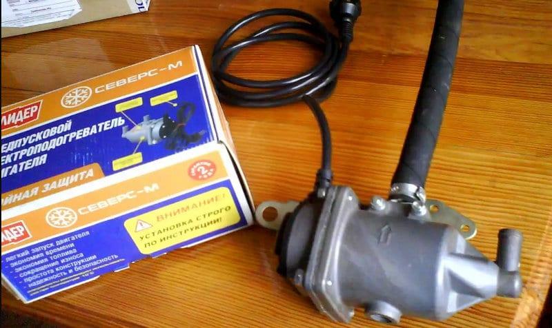 как установить подогреватель двигателя 220В