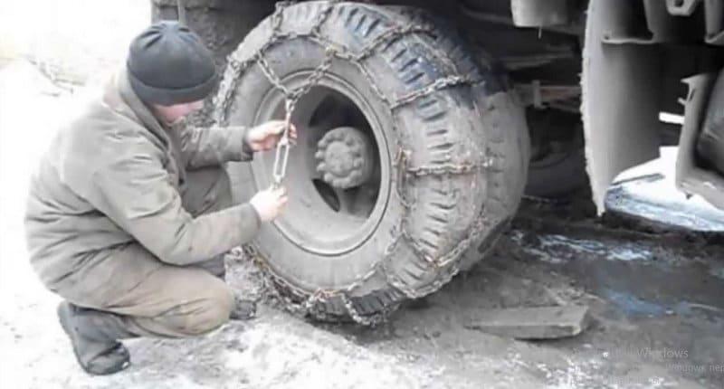 как ставятся цепи на колеса своими руками