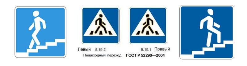 как выглядит знак пешеходный переход в России