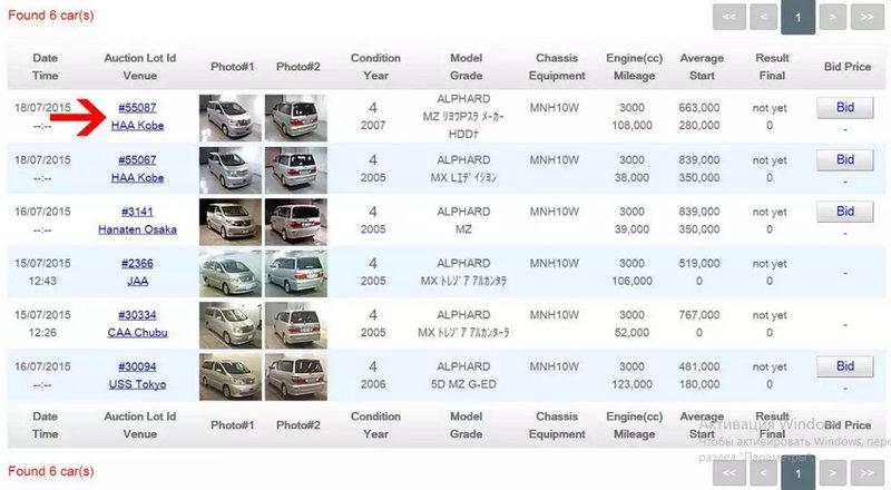 как выглядит японский аукцион автомобилей
