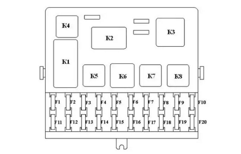 Ваз 2110 монтажный блок схема реле