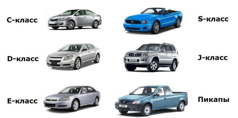 где классификация легковых автомобилей по классам