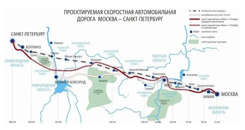 как выглядит платная дорога Москва - Санкт-Петербург