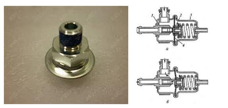 как выглядит клапан регулировки давления топлива
