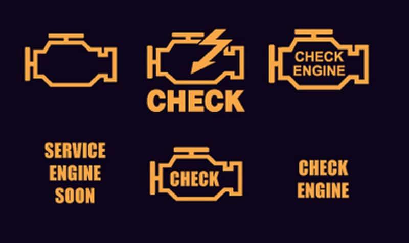 почему загорелся чек двигателя