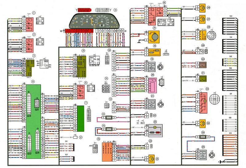 какая распиновка приборной панели ВАЗ 2114