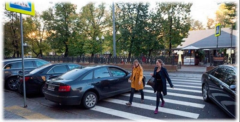 какой штраф за парковку на пешеходном переходе