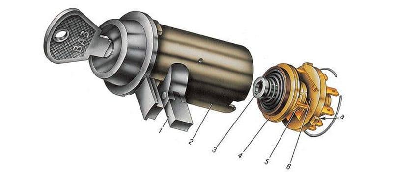 замена замка зажигания ВАЗ-2107