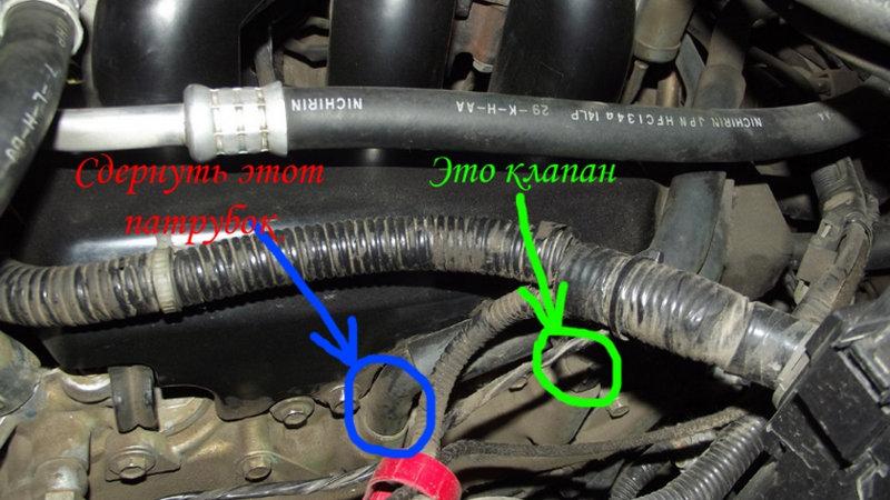 где клапан вентиляции картерных газов